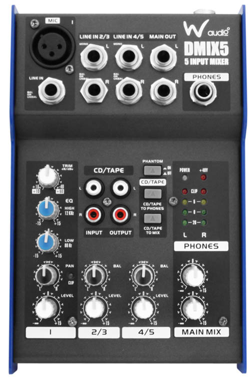 Compact 5 Channel Mixer by W Audio
