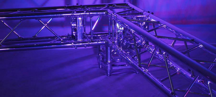 CHROME DECO TRUSS 1M STRAIGHT (120MM%2