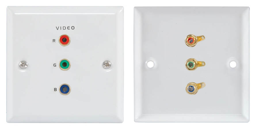 EGB COMPONENT VIDEO WALLPLATE