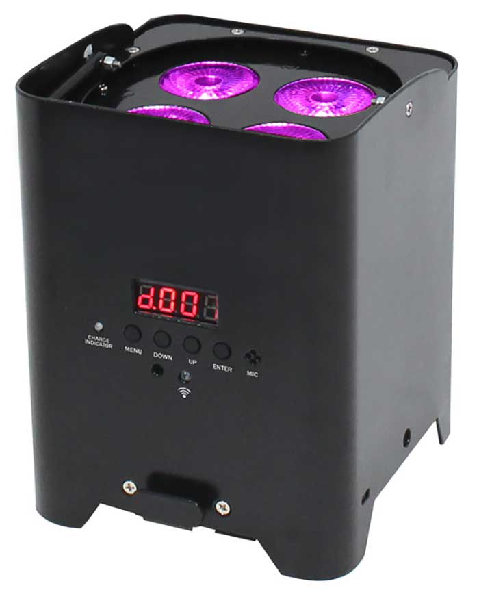 LED Uplighter RGBA - Battery Powered
