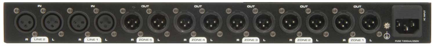 Zone Mixer, 2 Input 5 Zone Outputs