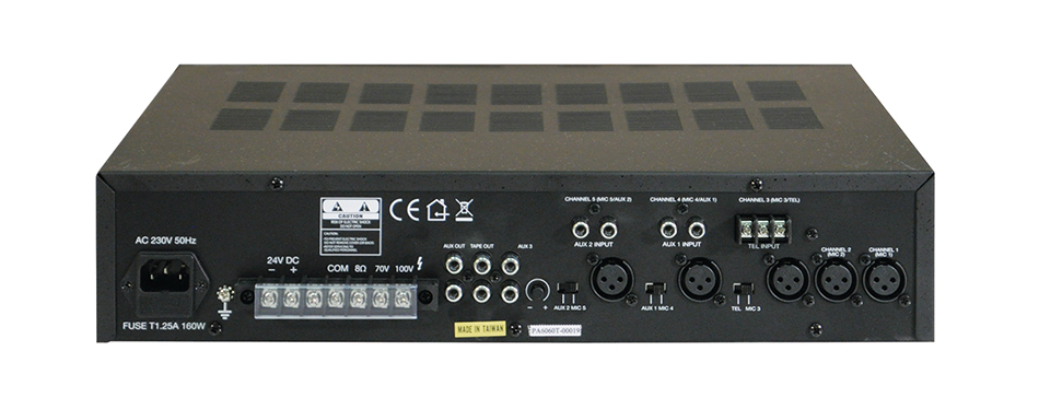 100v Line Mixing Amplifier 60 Watts