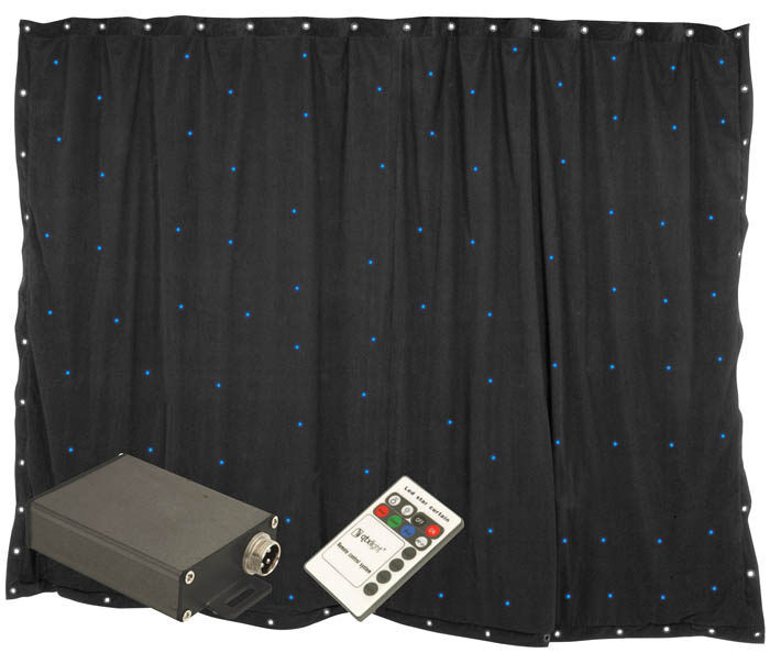 STAR CLOTH 1 x 2 METRE BLUE LIGHTS