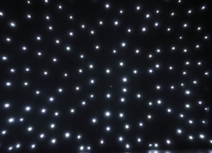 Star Curtain White LED''s 2 x 3m
