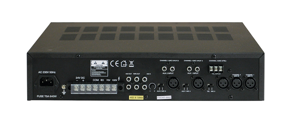 100v Line Mixing Amplifier 240 Watts