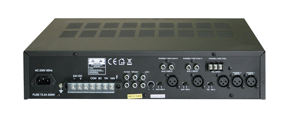 100v Line Mixing Amplifier 120 Watts