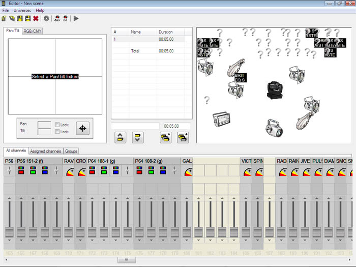 Sweetlight D- 512 DMX Software Interface