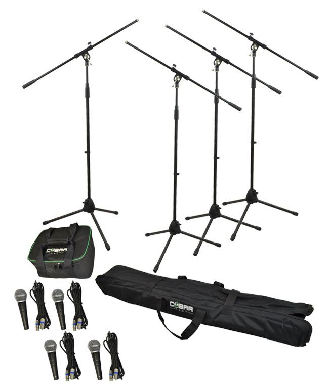 Complete Dynamic Microphone Set