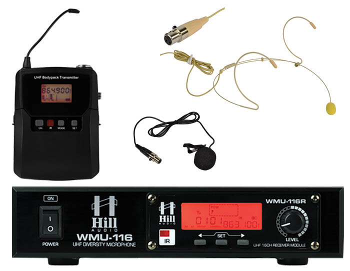 Single Beltpack UHF Radio Mic by Hill%