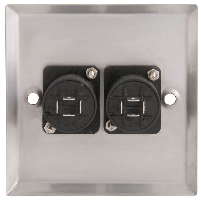 Speaker Socket Wall Connector Plate Dual 4 Pole