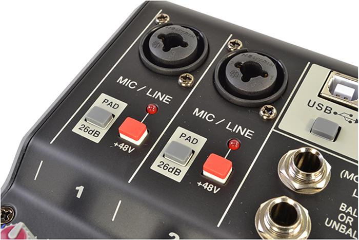 Compact 2 Channel Mixer - Mixing Desks