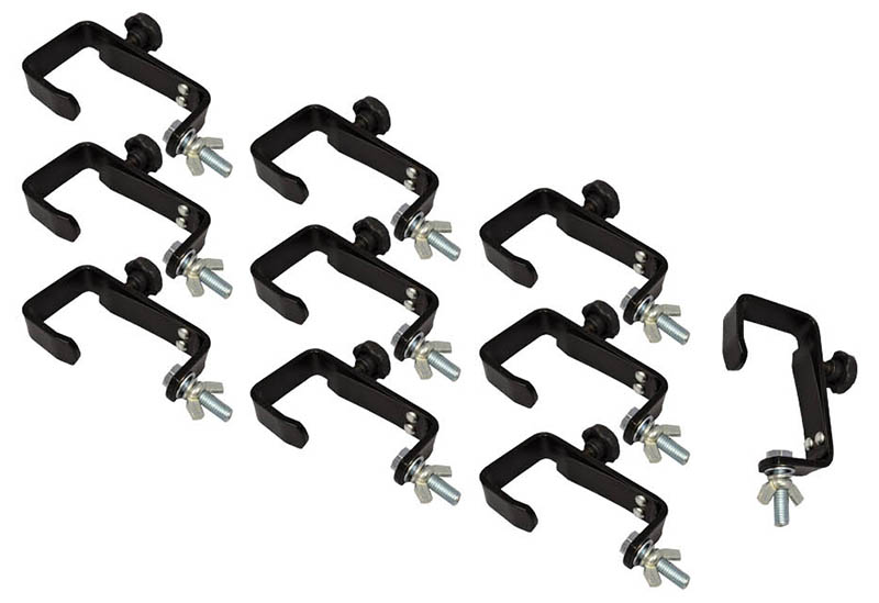 Black 50mm G Clamp - Pack 10