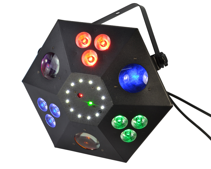 Black Star 5in1 Effects Light by Atomic Pro - LED Disco Lighting