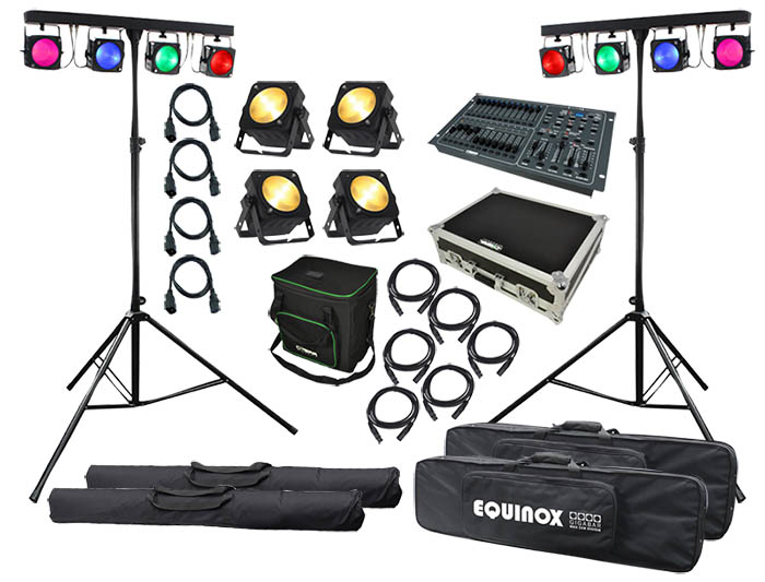 Complete Stage Lighting Kit With Control