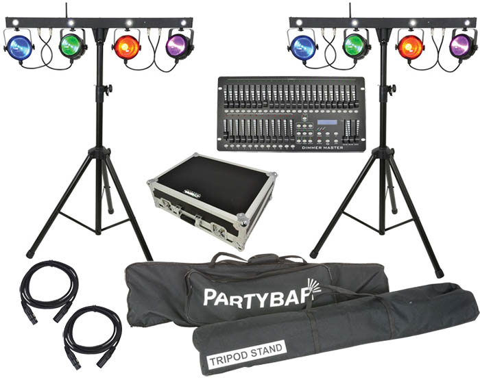 Stage Lighting Package with 8 RGBW Lig