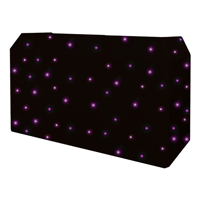 PRO DJ Booth Tri LED Star Cloth Syst