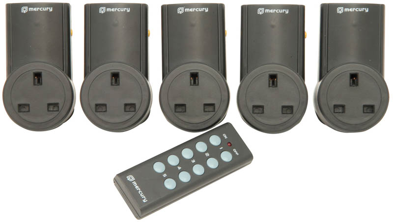 SET OF 5 REMOTE CONTROL SOCKET ADAPTOR