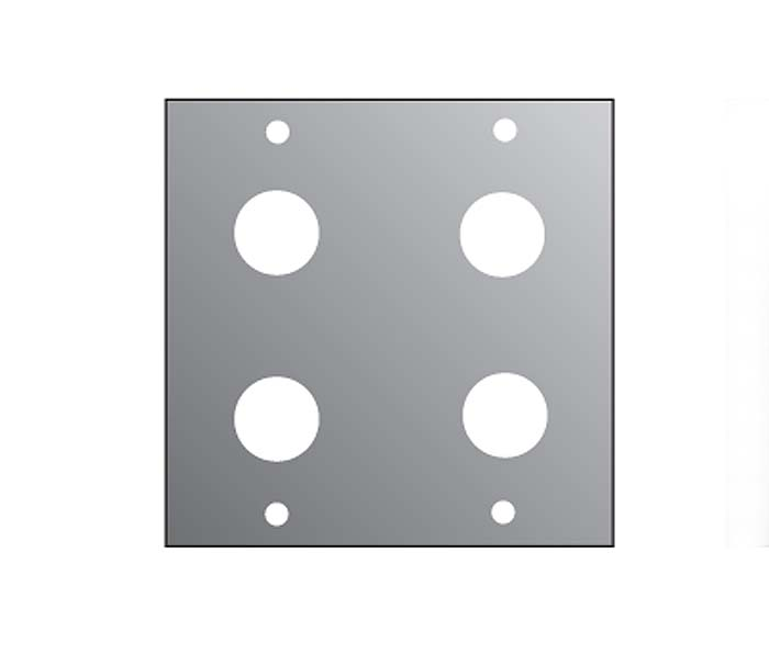 2U 4*JACK PANEL FOR M/P/S  2/10TH