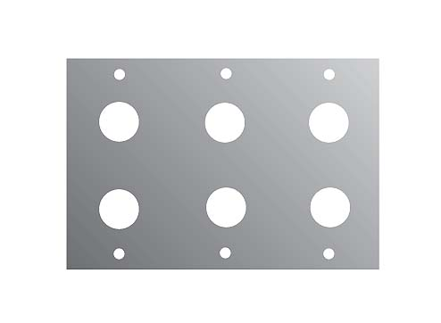 2U 6*JACK PANEL FOR M/P/S  2/10TH