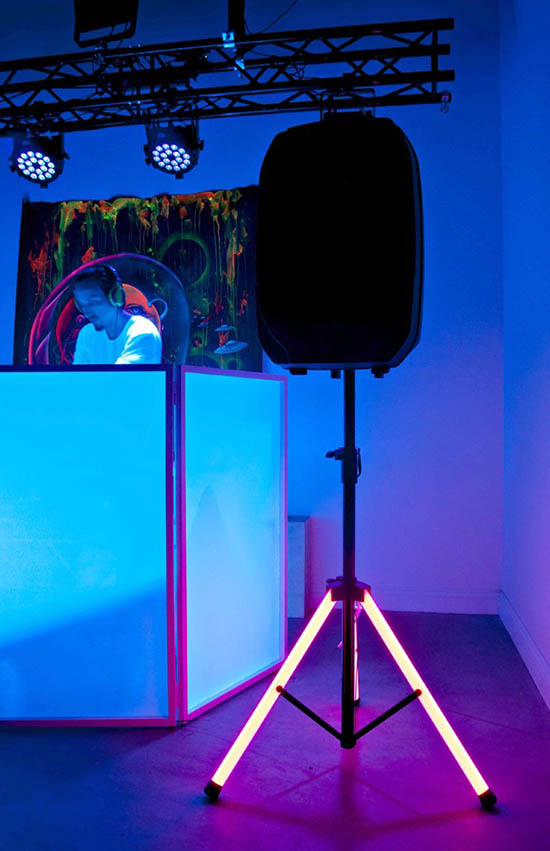 Speaker Stand with Integrated LED Lighti