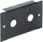 2 UNIT 1 MODULE WIDE FRONT PANEL -2x JACK SOCKET