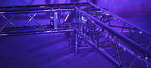 CHROME DECO TRUSS 300MM STRAIGHT (120M