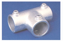 PIPECLAMP ANGLED TWO SOCKET TEE (4-10%