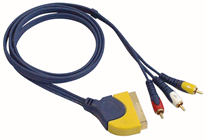 SCART PLUG TO 3 PHONO MALE CABLE