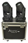 Atomic Beam Set of 2 LED Moving Head