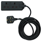 Two Way 13A Extension Lead - Black 4