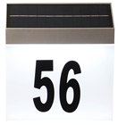 Solar LED House Number Wall Light