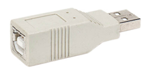 USB ADAPTOR A MALE TO B FEMALE