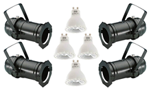 Par16 Black Birdy Lighting Set