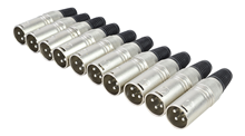 3 Pin XLR Male Connectors Pack of 10