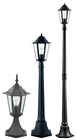 Outdoor Black Pedestal Light 240V E27
