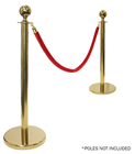 Red Barrier Rope - Gold Fixings