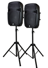 500 Watt 15 Speaker Set Inc Stands%