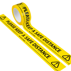 Keep a Safe Distance Floor Marking Tape 66M