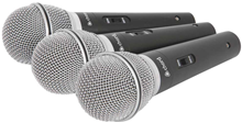 Vocal Dynamic Microphone Pack of 3