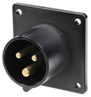 16A 230V 2P E Black Appliance Inlet