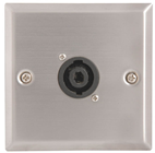 SINGLE 4 POLE SPEAKER SOCKET WALLPLATE