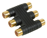 Video Cable 3 X RCA Phono Sockets To 3 X RCA Sockets