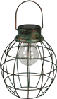 Solar LED Green Antique Metal Lantern