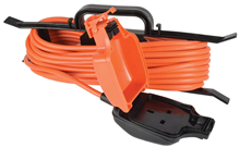 Single Gang Outdoor Weatherproof Extension Lead/Cable 5M
