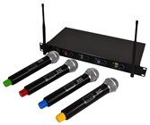 Hill Audio 4 Way Wireless Handheld Mic