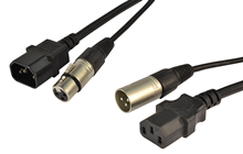 Audio & Power Cable XLR and IEC To
