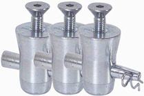 Conical Base Fixing Kit For Aluminium