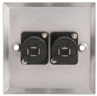 DUAL 4 POLE SPEAKER SOCKET WALLPLATE