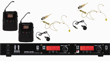 Dual Beltpack UHF Radio Mic by Hill