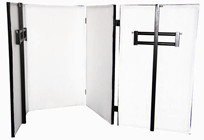 Foldable DJ Booth with Overhead Bar an